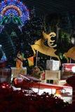 Αναμμένος Χριστούγεννα κήπος στοκ εικόνες