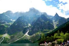 Αναμμένο φως του ήλιου ορεινών όγκων υπέροχα στοκ εικόνες