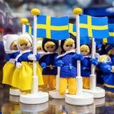 Αναμνηστικά από τη Σουηδία με τη σουηδική σημαία Στοκ Εικόνα