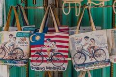 Αναμνηστικά για την πώληση στην πόλη Μαλαισία του George στοκ εικόνα με δικαίωμα ελεύθερης χρήσης