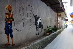 Αναμνηστικά και αγορά τροφίμων koh στο samui στοκ φωτογραφίες