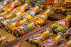 Αναμνηστικά μπουκαλιών άμμου στο παζάρι Madinat Jumeirah, Ντουμπάι, Ε.Α.Ε. στοκ φωτογραφία με δικαίωμα ελεύθερης χρήσης