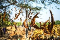 Αναμνηστικά που πωλούνται στην αγορά, το bagan-Μιανμάρ στοκ εικόνες