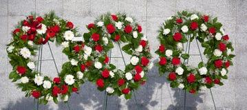 Αναμνηστικά στεφάνια Στοκ εικόνα με δικαίωμα ελεύθερης χρήσης