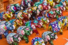 Αναμνηστικά στο κύριο δρόμο Arambol, ο Βορράς Goa, Ινδία Στοκ Εικόνα