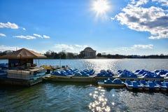 Αναμνηστική άποψη του Thomas Jefferson από τη λίμνη Washington DC, ΗΠΑ Στοκ Εικόνες