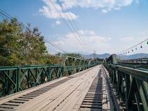 Αναμνηστική γέφυρα Δεύτερου Παγκόσμιου Πολέμου Pai Tha, στο γιο της Mae Hong, Ταϊλάνδη στοκ εικόνες με δικαίωμα ελεύθερης χρήσης