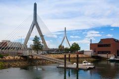 Αναμνηστική γέφυρα Hill αποθηκών Zakim στη Βοστώνη ΗΠΑ Στοκ φωτογραφίες με δικαίωμα ελεύθερης χρήσης