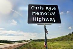 Αναμνηστική εθνική οδός του Chris Kyle στοκ φωτογραφία με δικαίωμα ελεύθερης χρήσης