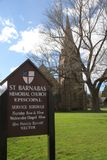 Αναμνηστική εκκλησία του ST Barnabas, Falmouth, Μασαχουσέτη, Ηνωμένες Πολιτείες Στοκ φωτογραφία με δικαίωμα ελεύθερης χρήσης