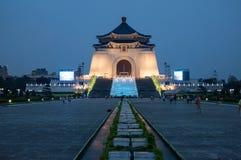 Αναμνηστική νύχτα της Ταϊπέι αιθουσών του Kai Shek Chiang Στοκ Φωτογραφίες