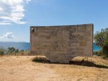 Αναμνηστική πέτρα στον όρμο Gallipoli Anzac Στοκ Εικόνες