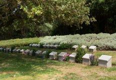 Αναμνηστική πέτρα στον όρμο Gallipoli Anzac Στοκ φωτογραφία με δικαίωμα ελεύθερης χρήσης