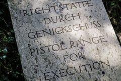 Αναμνηστική περιοχή στρατοπέδων συγκέντρωσης Dachau Στοκ Εικόνες