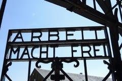 Αναμνηστική περιοχή στρατοπέδων συγκέντρωσης Dachau Στοκ εικόνες με δικαίωμα ελεύθερης χρήσης