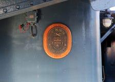 Αναμνηστική πινακίδα της εισόδων παγκόσμιας ένωσης» αυγής» ταχύπλοων σκαφών πυκνής 1 των ιστορικών σκαφών Παρουσιασμένος Μάιος στοκ φωτογραφία με δικαίωμα ελεύθερης χρήσης