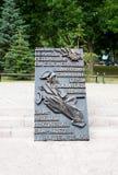 Αναμνηστική πινακίδα των ηρώων επαναστατικού Στοκ Φωτογραφία