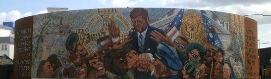Αναμνηστική τέχνη του Μπέρμιγχαμ JFK στοκ εικόνες