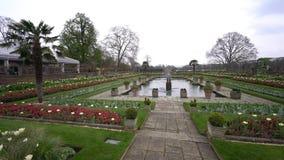 Αναμνηστικός κήπος της Diana πριγκηπισσών στο Χάιντ Παρκ απόθεμα βίντεο
