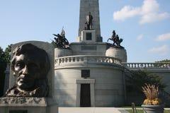 Αναμνηστικός τάφος Σπρίνγκφιλντ Ιλλινόις του Abraham Lincoln στοκ εικόνες με δικαίωμα ελεύθερης χρήσης