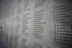 Αναμνηστικός τοίχος Anzac Στοκ Εικόνες