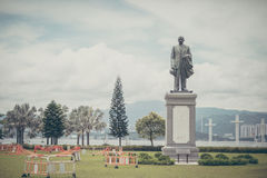 Αναμνηστικό άγαλμα Yat Sen ήλιων σε έναν κήπο Στοκ Φωτογραφίες