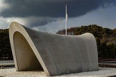 Αναμνηστικό κενοτάφιο πάρκων ειρήνης της Χιροσίμα Στοκ φωτογραφία με δικαίωμα ελεύθερης χρήσης