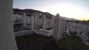 Αναμνηστικό μουσουλμανικό νεκροταφείο Kovaci Martyrs' στο Σαράγεβο Το νεκροταφείο φιλοξενεί ένα 90% των ταφοπετρών απόθεμα βίντεο