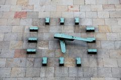 Αναμνηστικό ρολόι των Σκόπια Στοκ φωτογραφία με δικαίωμα ελεύθερης χρήσης