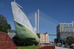 Αναμνηστικό υποβρύχιο μουσείο s-56 στο Βλαδιβοστόκ, Primorsky Krai μέσα Στοκ Φωτογραφία