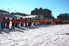 Αναμονή για να κάνει σκι Στοκ φωτογραφία με δικαίωμα ελεύθερης χρήσης