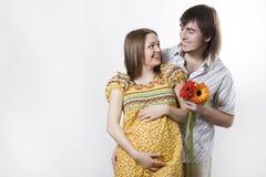 αναμονή ζευγών μωρών Στοκ Εικόνες