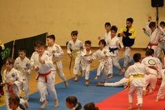 Αναμονή μαχητών Jitsu Jiu, έτοιμη για την κατάρτιση στοκ εικόνες με δικαίωμα ελεύθερης χρήσης