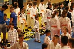 Αναμονή μαχητών Jitsu Jiu, έτοιμη για την κατάρτιση στοκ φωτογραφία με δικαίωμα ελεύθερης χρήσης