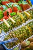 Ανανάς, καρπούζι και ακτινίδιο Στοκ Εικόνα