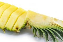 ανανάς με τις φέτες σε ανοικτό γκρι Ανανάς, ανανάς, φρούτα Στοκ Εικόνα