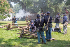 Αναπαράσταση μάχης Gettysburg στοκ φωτογραφία