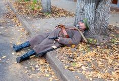 Αναπαράσταση οι οπλισμένες ενέργειες της τσεχοσλοβάκικης λεγεώνας Στοκ φωτογραφία με δικαίωμα ελεύθερης χρήσης