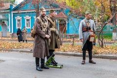 Αναπαράσταση οι οπλισμένες ενέργειες της τσεχοσλοβάκικης λεγεώνας Στοκ Εικόνες