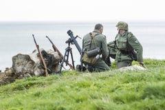 Αναπαράσταση του παγκόσμιου πολέμου 2 μάχη Blyth, Northumberland, στις 16 Μαΐου 2015 Στοκ Φωτογραφίες