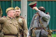 Αναπαράσταση των γεγονότων Δεύτερου Παγκόσμιου Πολέμου στοκ εικόνες με δικαίωμα ελεύθερης χρήσης