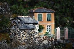 Αναπαραγωγή του χωριού από τη Λιγουρία Apennines - της Λιγυρίας - της Ιταλίας Στοκ Φωτογραφίες
