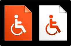 Αναπηρία στο σύνολο εγγράφου απεικόνιση αποθεμάτων