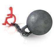 αναπηρία διανυσματική απεικόνιση