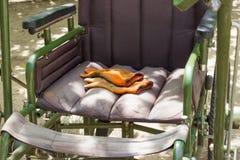 Αναπηρική καρέκλα για τους αρρώστους ή τα άτομα με ειδικές ανάγκες Αναπηρική καρέκλα για τους αρρώστους ή τα άτομα με ειδικές ανά Στοκ Φωτογραφία
