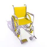 αναπηρική καρέκλα κίτρινη απεικόνιση αποθεμάτων