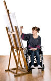 αναπηρική καρέκλα κοριτσ& Στοκ φωτογραφίες με δικαίωμα ελεύθερης χρήσης