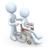αναπηρική καρέκλα προσώπων Στοκ εικόνες με δικαίωμα ελεύθερης χρήσης