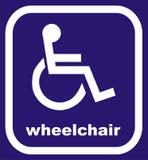 αναπηρική καρέκλα σημαδιών Στοκ Εικόνα