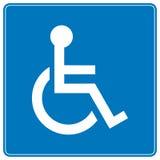αναπηρική καρέκλα σημαδιών Στοκ Εικόνες